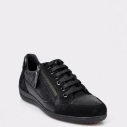 Pantofi sport GEOX negri, D6468a, din piele naturala