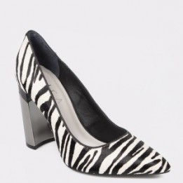 Pantofi EPICA alb-negru, 6812215, din piele naturala