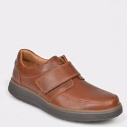 Pantofi CLARKS maro, Un Abode Strap, din piele naturala