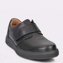 Pantofi CLARKS negri, Un Abode Strap, din piele naturala