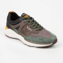 Pantofi sport PEPE JEANS maro, MS30569, din material textil si piele naturala