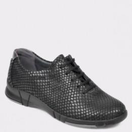 Pantofi sport SUAVE negri, 9204, din piele naturala