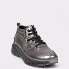 Pantofi sport FLAVIA PASSINI argintii, LV312, din piele naturala