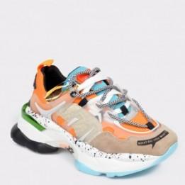 Pantofi sport FLAVIA PASSINI portocalii, MX99189, din piele naturala
