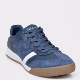 Pantofi sport SKECHERS bleumarin, 52322, din piele naturala