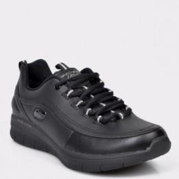 Pantofi sport SKECHERS negri, 12363, din piele naturala