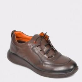Pantofi OTTER maro, 280107, din piele naturala