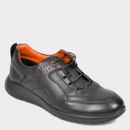 Pantofi OTTER negri, 280107, din piele naturala