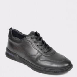 Pantofi OTTER negri, 2RIO01, din piele naturala