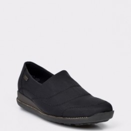 Pantofi RIEKER negri, 44260, din material textil