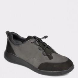 Pantofi OTTER gri, 280109, din nabuc