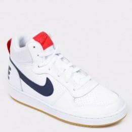 Pantofi sport NIKE albi, 839977, din piele ecologica