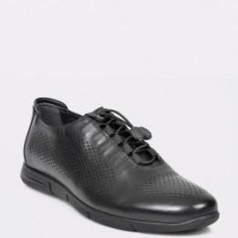 Pantofi OTTER negre, 19037, din piele naturala