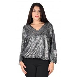 Bluza argintie cu braduti 2064 V