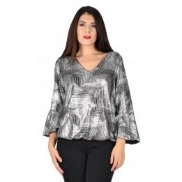 Bluza argintie cu motive geometrice 2064 C