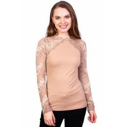 Bluza bej din tricot H583