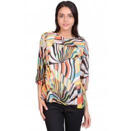 Bluza colorata cu imprimeu abstract 19026 G