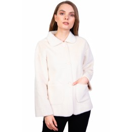 Jacheta dama ecru din blana SC9959