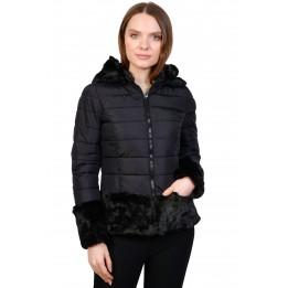 Jacheta neagra cu blana ecologica AT8220 NG