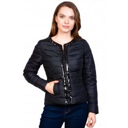 Jacheta neagra cu bordura paiete AT8125 NG