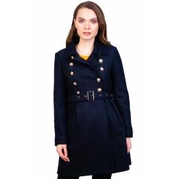 Palton bleumarin cu cordon 2053 BM