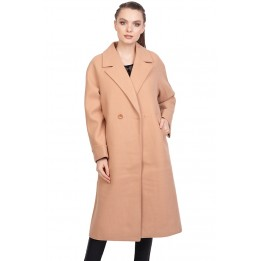 Palton dama bej maneca raglan 2051 B