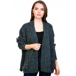Pulover casual gri tip cardigan 1359 G