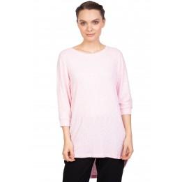 Pulover casual roz cu striatii MO-4398 R