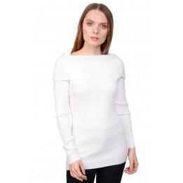 Pulover dama alb pe corp 18251 A