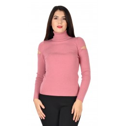 Pulover dama roz tip maleta 1525 R