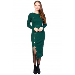 Rochie verde tricotata 5025-5 V